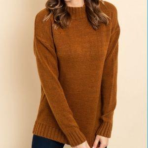 🌸SALE🌸 Brown Mock Neck Sweater